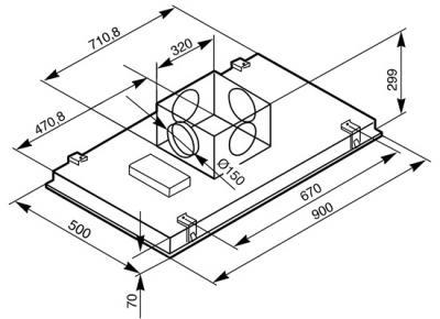 Вытяжка скрытая Smeg KSEG90X-1 - схема