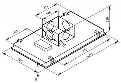 Вытяжка скрытая Smeg KSEG120X1 - схема