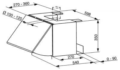 Вытяжка коробчатая Smeg KSEI62 - схема