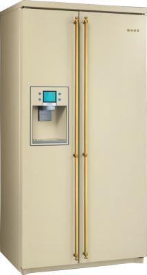 Холодильник с морозильником Smeg SBS800P9 - общий вид