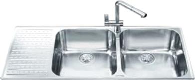 Мойка кухонная Smeg LTS116S-2 - общий вид