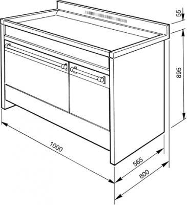 Кухонная плита Smeg A2PY-8 - схема
