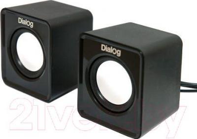 Мультимедиа акустика Dialog Colibri AC-02UP (черный) - общий вид
