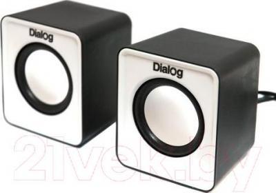 Мультимедиа акустика Dialog Colibri AC-02UP (черно-белый) - общий вид