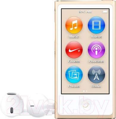 MP3-плеер Apple iPod nano 16Gb MKMX2QB/A (золотой)