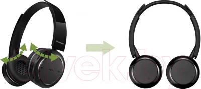 Наушники-гарнитура Panasonic RP-BTD5E-K - поворотные уши