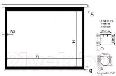 Проекционный экран Classic Solution Lyra 248x144 (E 240x135/9 MW-M8/W)
