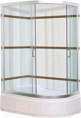 Душевой уголок Coliseum Satriya 120 L (тонированное стекло)