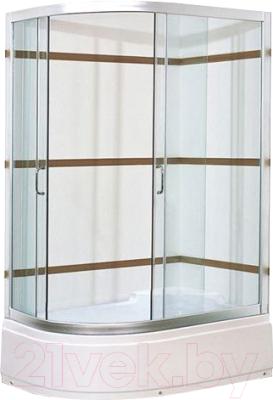 Душевой уголок Coliseum Satriya 120 R (тонированное стекло)