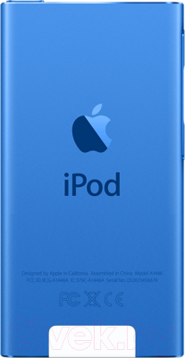 MP3-плеер Apple iPod nano 16Gb MKN02QB/A (синий)