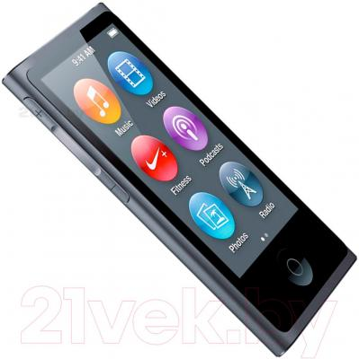 MP3-плеер Apple iPod nano 16Gb MKN52QB/A (серый)