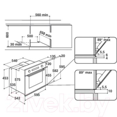 Электрический духовой шкаф Whirlpool AKZM 6610/TB