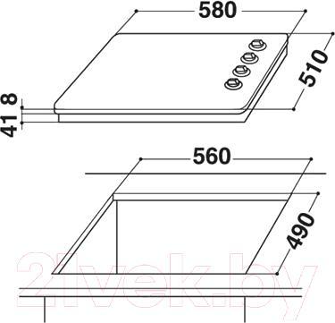Газовая варочная панель Whirlpool AKM 403/NB/01