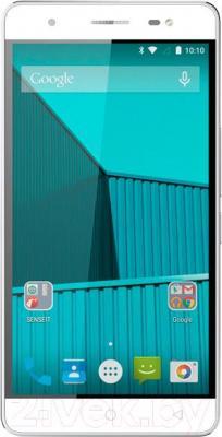 Смартфон Senseit E500 (бело-серебристый)