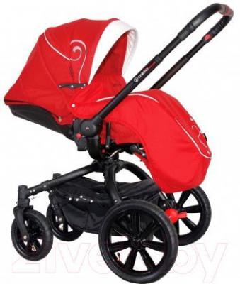 Детская универсальная коляска Coletto Marcello Art 3 в 1 (красно-белый)