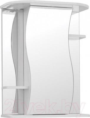 Шкаф с зеркалом для ванной Кветка Лилия ШЛ-550-01 (белый, правый)