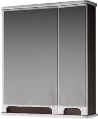 Шкаф с зеркалом для ванной Ванланд Венеция 1-60 (венге, правый)