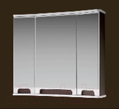 Шкаф с зеркалом для ванной Ванланд Венеция 1-80 (венге)