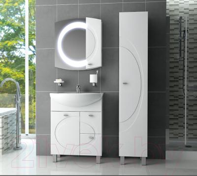 Шкаф-пенал для ванной Ванланд Монако 1 (белый, левый)