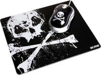 Мышь Acme Mini Mouse + Mouse pad (skull) MN-06 -