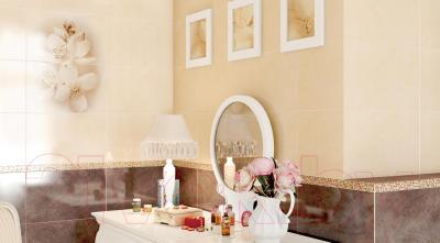 Плитка для стен ванной Cersanit Diana Браун 1 (400x250)