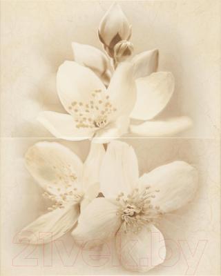 Декоративная плитка для ванной Cersanit Панно Diana Цветок (500x400)
