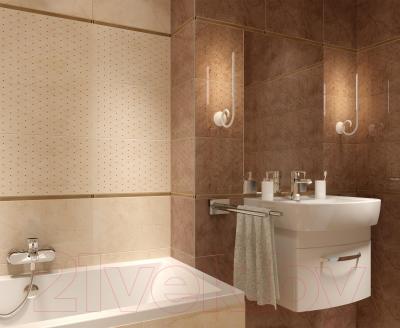 Декоративная плитка для ванной Cersanit Seno Brown Ins Diamond (450x300)