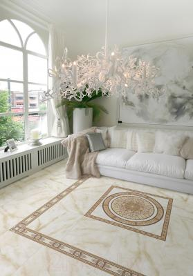 Декоративная  плитка для пола Cersanit Панно Carrara Светло-Бежевый CE6G304 (880x880)