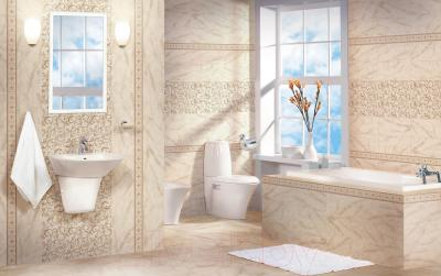 Декоративная  плитка для пола Cersanit Carrara Светло-бежевый CE5R302 (440x110)