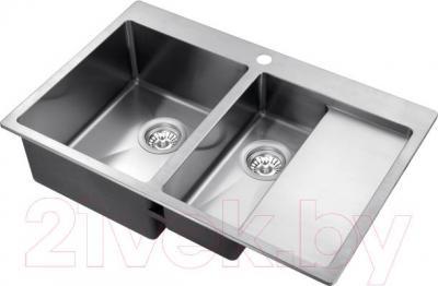 Мойка кухонная Aquasanita LUNA LUN 151NL (сталь)