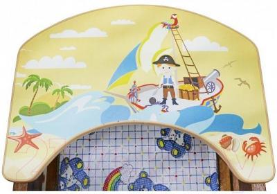 Стульчик для кормления Апельсиновая зебра Непоседа-6 (пират) - рисунок на столешнице