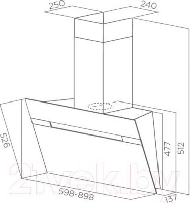 Вытяжка декоративная Elica STRIPE BL/A/90/LX