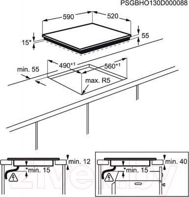 Индукционная варочная панель Electrolux EHI96540FS