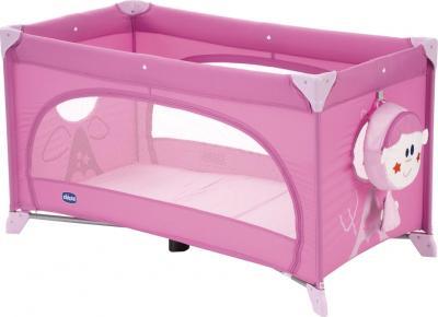 Кровать-манеж Chicco Easy Sleep Pink - общий вид