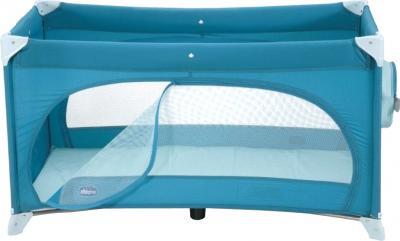 Кровать-манеж Chicco Easy Sleep (Light Blue) - вид сбоку + лаз