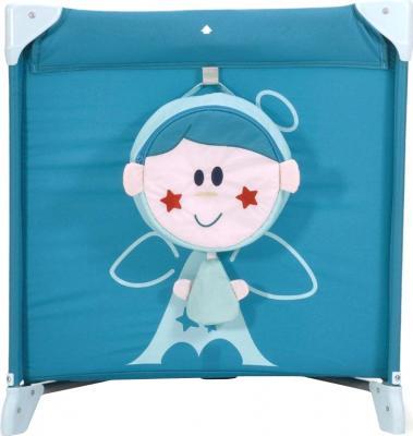 Кровать-манеж Chicco Easy Sleep (Light Blue) - вид спереди + сумка для пижамы