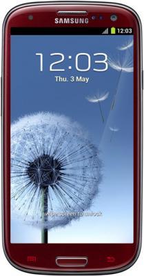 Смартфон Samsung Galaxy S III / I9300 (красный) - общий вид