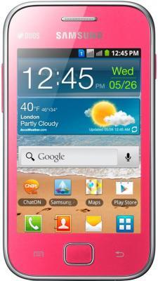 Смартфон Samsung Galaxy Ace Duos / S6802 (розовый) - общий вид