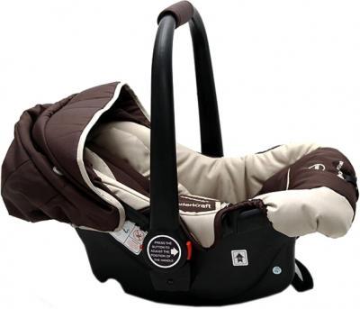 Детская универсальная коляска KinderKraft Kraft 5 Brown - автокресло