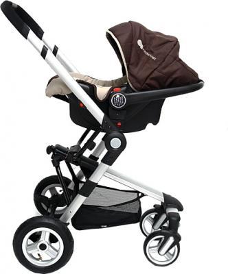 Детская универсальная коляска KinderKraft Kraft 5 Brown - вид сбоку