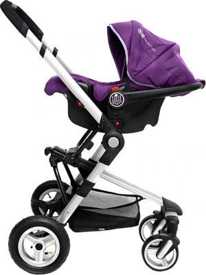 Детская универсальная коляска KinderKraft Kraft 5 Violet - вид сбоку