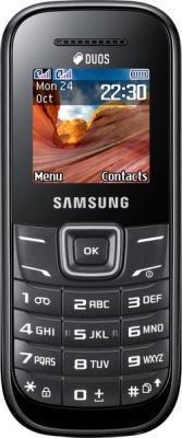 Мобильный телефон Samsung E1202 (черный) - общий вид