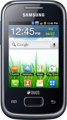 Смартфон Samsung S5302 Galaxy Pocket Duos Black (GT-S5302 ZKASER) - общий вид