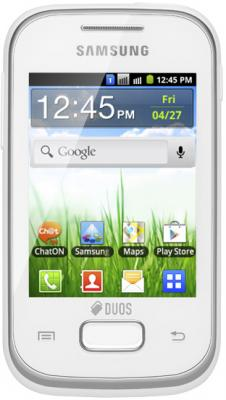Смартфон Samsung S5302 Galaxy Pocket Duos White (GT-S5302 ZWASER) - общий вид