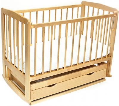 Детская кроватка Лескоммебель Лиза H8-6/1 (Натуральный цвет) - общий вид