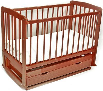 Детская кроватка Лескоммебель ЛизаH8-6/1 (Орех) - общий вид