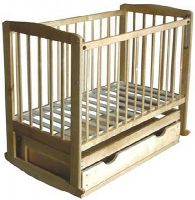 Детская кроватка Лескоммебель Лиза H8-6/1г (Натуральный цвет) - общий вид