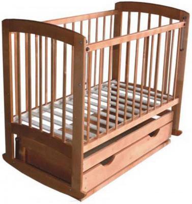 Детская кроватка Лескоммебель Лиза H8-6/1г (Орех) - общий вид