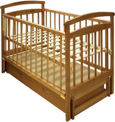 Детская кроватка Лескоммебель Лиза H8-6/1пм (Натуральный цвет) - общий вид