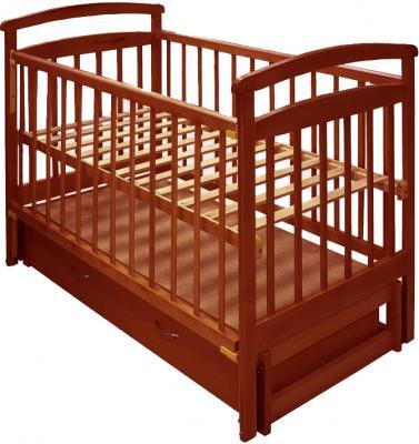 Детская кроватка Лескоммебель Лиза H8-6/1пм (Орех) - общий вид